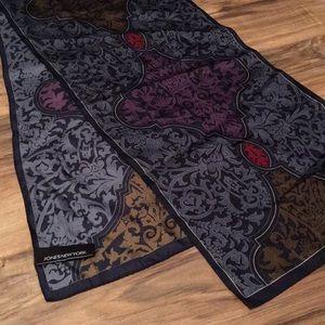 Women's silk neck/bag scarf